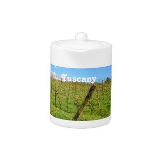 Tuscan Vineyard Teapot