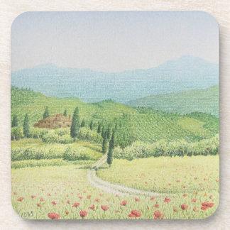 Tuscan Vineyards, Italy Hard Plastic Coasters
