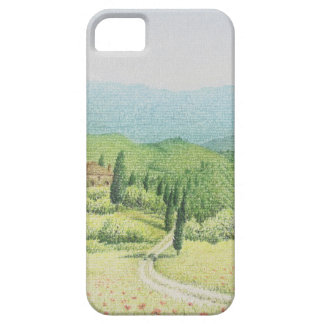 Tuscan Vineyards, Italy in Pastel iPhone case