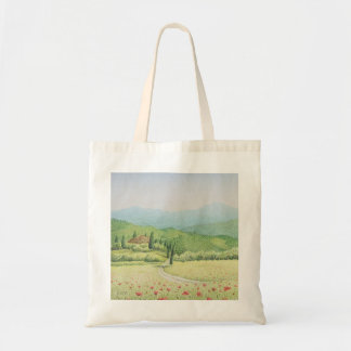 Tuscan Vineyards, Italy in Pastel Tote Bag