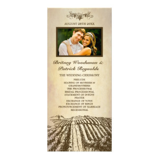 Tuscan Vintage Winery Vineyard Wedding Programs
