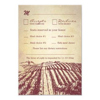 Tuscan Vintage Winery Vineyard Wedding RSVP Cards