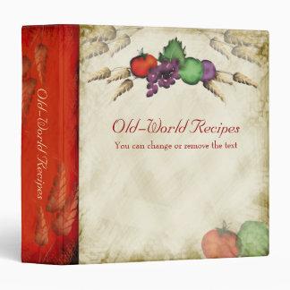 Tuscan wheat fruit vegetable cookbook recipe binde vinyl binder