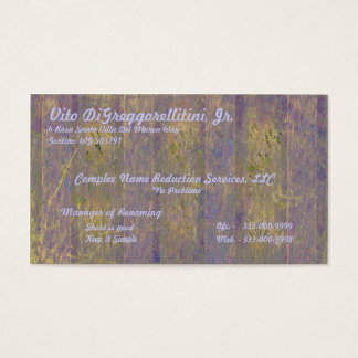 Tuscan Window Business Card