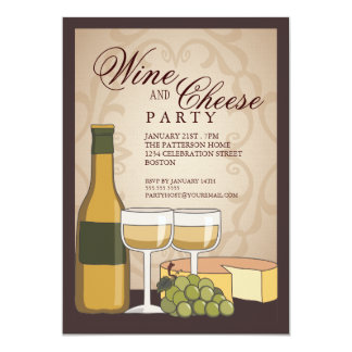 wine and cheese party invitations & announcements | zazzle, Party invitations