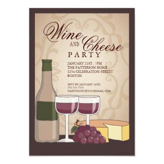"Tuscan Wine & Cheese Tasting Party Invitation 5"" X 7"" Invitation Card"