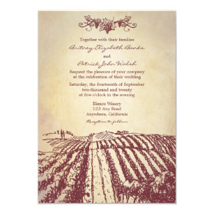 Winery Wedding Invitations Zazzle