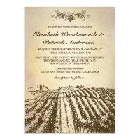 Tuscan Winery Vintage Vineyard Wedding Invitations