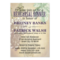 Tuscan Winery Wedding Rehearsal Dinner Invitations