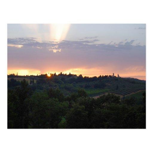 TuscanSunset Tarjeta Postal