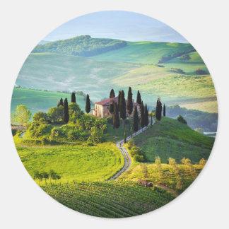 Tuscany Classic Round Sticker