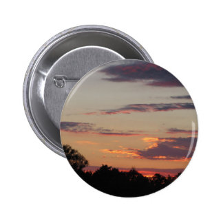 Tuscany countryside sunset 2 inch round button