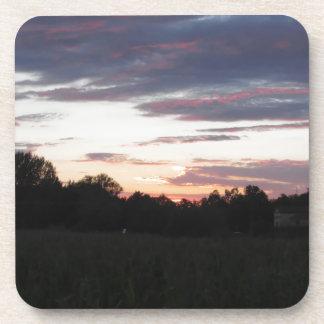Tuscany countryside sunset coasters
