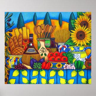 Tuscany Delights Print by Lisa Lorenz