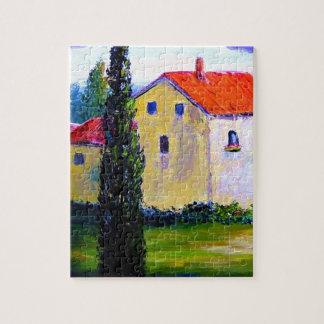 Tuscany Farm House Jigsaw Puzzle