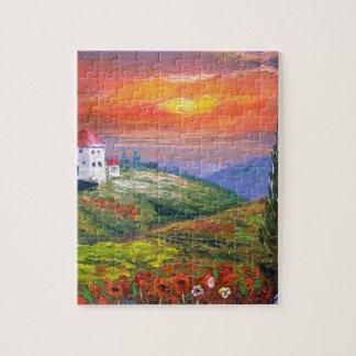 Tuscany Fire Sky Jigsaw Puzzles