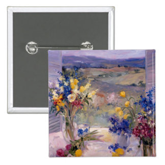 Tuscany Floral Button