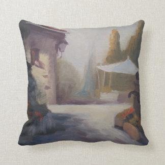 Tuscany garden throw pillow