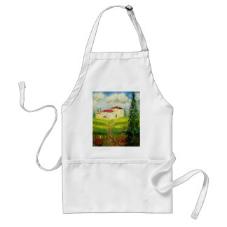 Tuscany Hillside Painting Adult Apron