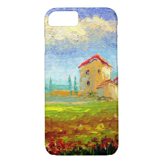 Tuscany HIlside with Poppies iPhone 7 Case