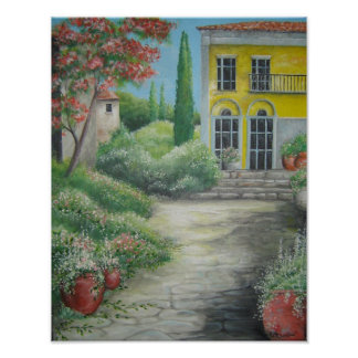Tuscany House Poster