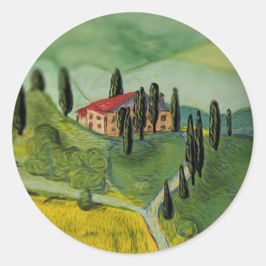 Tuscany, Italy Classic Round Sticker