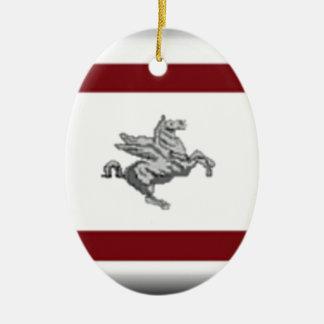 Tuscany (Italy) Flag Ceramic Ornament