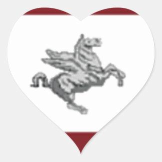 Tuscany (Italy) Flag Heart Sticker