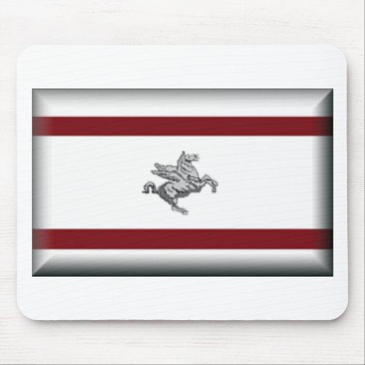 Tuscany (Italy) Flag Mousepads