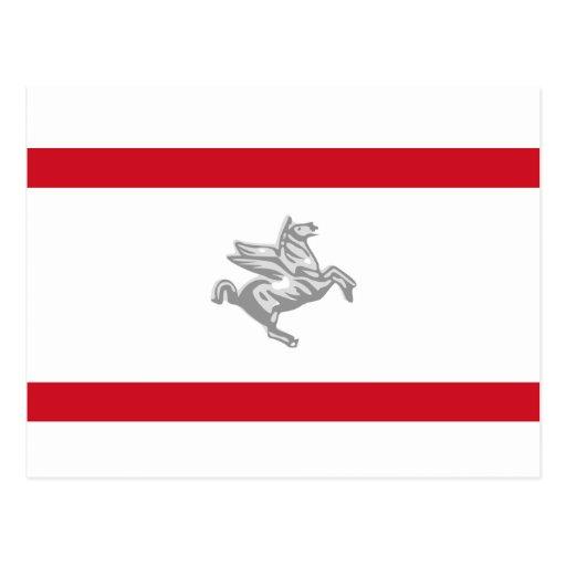 Tuscany, Italy flag Postcard