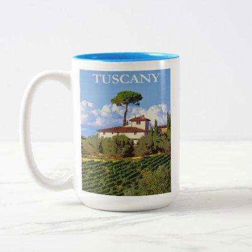 Tuscany Italy Italian Villa Retro Travel Poster