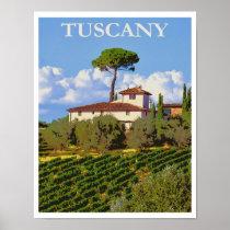 Tuscany Italy Italian Villa Retro Vintage Travel