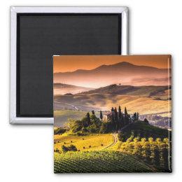 Tuscany, Italy landscape photograph Magnet
