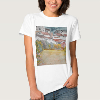 Tuscany Italy landscape watercolor painting T-shirt
