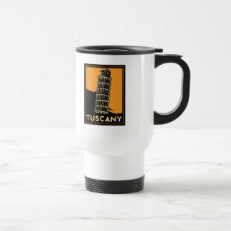 Tuscany Italy retro art deco travel poster 15 Oz Stainless Steel Travel Mug
