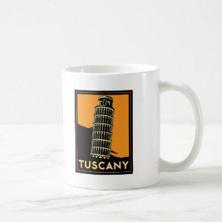 Tuscany Italy retro art deco travel poster Classic White Coffee Mug