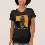 Tuscany Italy retro art deco travel poster Shirts