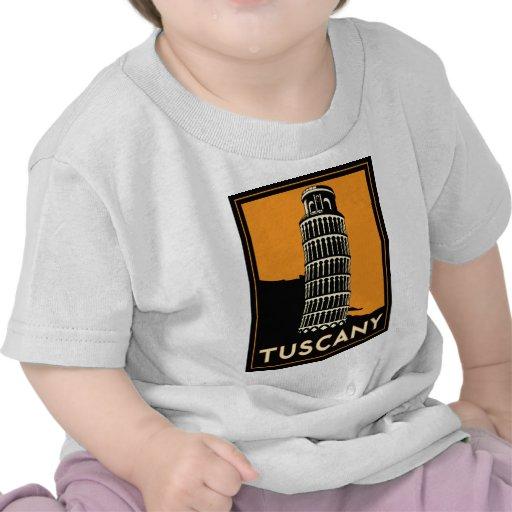 Tuscany Italy retro art deco travel poster T Shirt