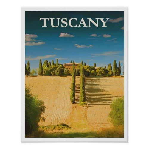 Tuscany Italy Retro Vintage Travel