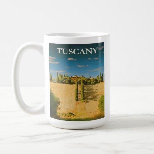 Tuscany Italy Retro Vintage Travel Poster