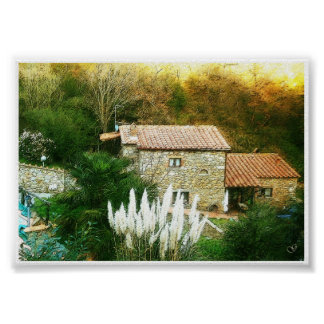 Tuscany, Italy. Rustic house. Poster
