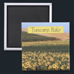 """Tuscany Italy Travel Souvenir Photo Fridge Magnet<br><div class=""""desc"""">Tip: dated magnets are a fun way to keep a chronology of your travels and Zazzle makes it easy to add a date.</div>"""