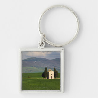 Tuscany, Italy, Val d'Orcia, Pienza, Chapel of Silver-Colored Square Keychain