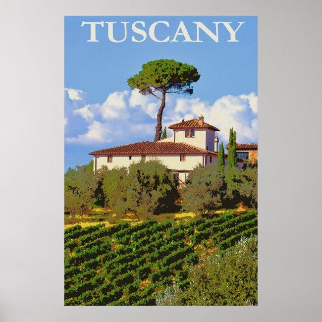 Tuscany Italy Vintage Travel Italian Villa
