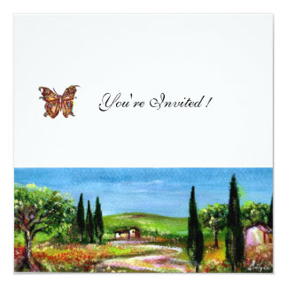 TUSCANY LANDSCAPE 5,yellow green white Card