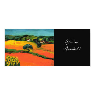 TUSCANY LANDSCAPE , blue green yellow orange Personalized Announcements
