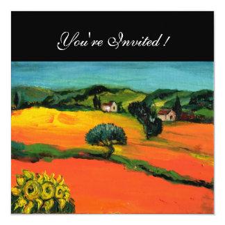 TUSCANY LANDSCAPE , blue green yellow orange Announcements
