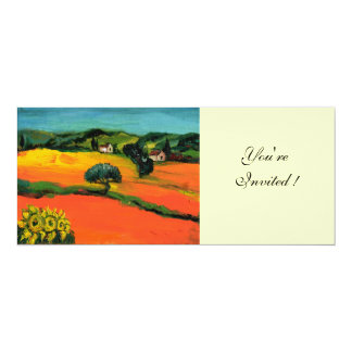 TUSCANY LANDSCAPE , blue green yellow orange Personalized Invitation