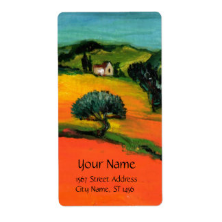 TUSCANY LANDSCAPE PERSONALIZED SHIPPING LABELS