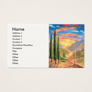 Tuscany Landscape Painting - Multi Business Card